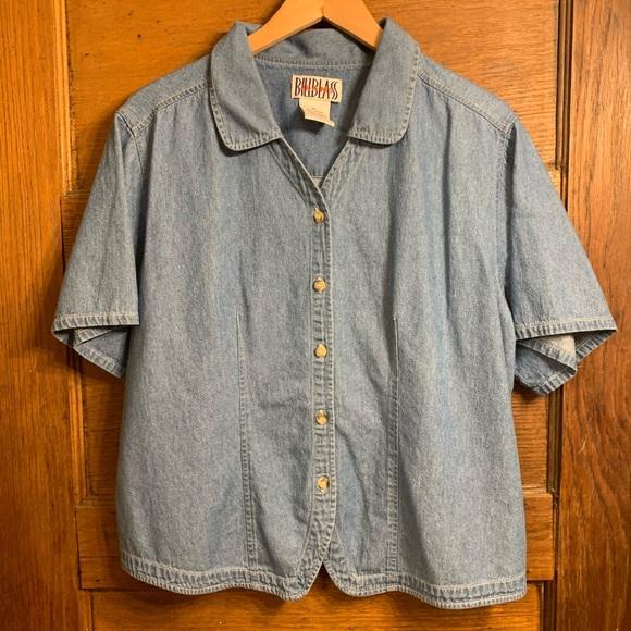 Vintage Tops - Vintage 90s denim/ chambray shirt